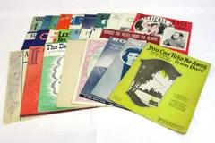 Large Lot of 26 Paper Sheet Music Large Format Antique Vintage 1920s 1930s 1940s