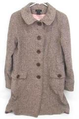 Women's Frenchi Wool Blend Dress Coat Long Pink Brown Winter Peacoat