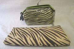 Lot Of Two Clutch Purses Handbags Animal Print Floral Chain Strap Small Medium