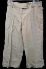 Ann Taylor Women's Beige 100% Wool Dress Pants Double Button Zipper Fly Size 8