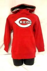 MLB Cincinnati Red's Sweatshirt Antigua Youth Size L Hooded Pullover Heavy