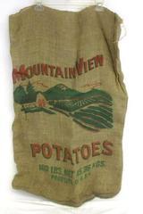 Mountain View Potatoes 100 lb Burlap Potato Sack Bag Race USA