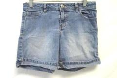 Girl's Blue Jean Shorts w/ Pockets and Button Zipper Fly By Faded Glory Size 12