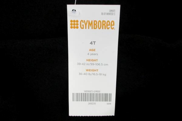 Gymboree Boys Gray & Black & White Fleece Jacket Snap Button Size 4T