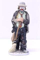 "Emmett Kelly 10"" Clown Figurine LIMITED EDITION Flambro ""Sweeping Up"""