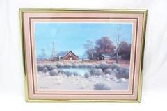 "Vintage Gene Speck 11""x 8"" Framed Print Country Windmill Farm"