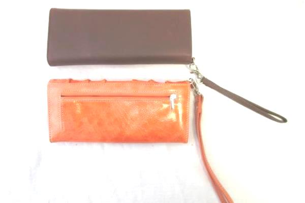 Lot of 2 Clutch Purses By Mo&Co & Unknown Brown Orange Rhinestones Silver