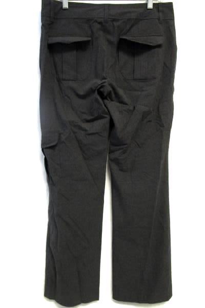 Old Navy Dark Grey Dress Pants Zipper Double Clasp Close w/ Pockets Women's Sz 8
