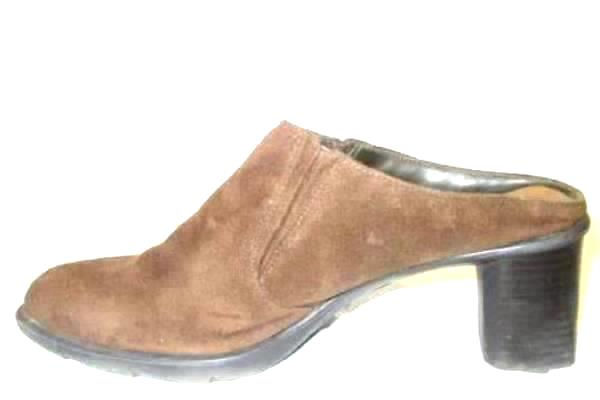 FanFares Women's Brown High Heel Block Wedges w/ Elastic Side Splits Size 8 1/2