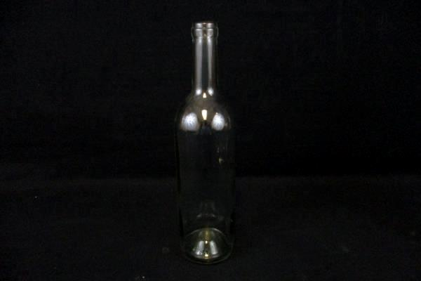 Lot of 2 Clear Glass Long Neck Bottles