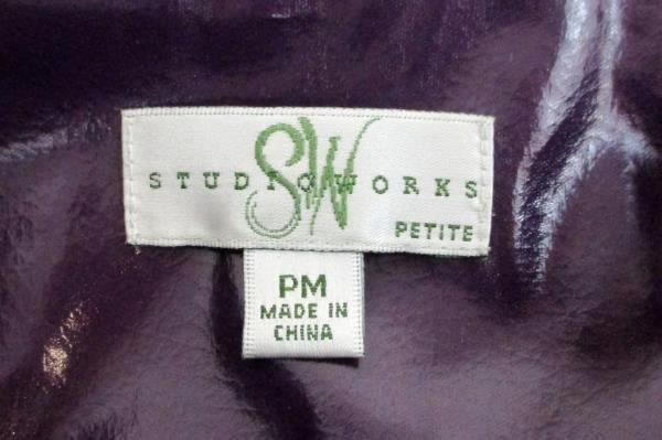 Studio Works Petite Purple Lined Jacket Women's Size PM Casual Career Business