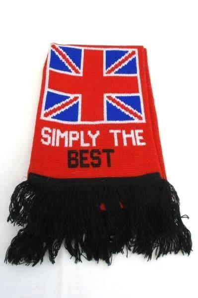 Manchester Reds Knitted Bar Scarf Fringe Pride of the North Football Club
