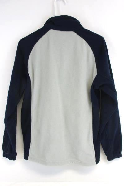 Muckleshoot Casino Fleece Jacket Men's Dark Navy Blue Gray Full Zip Front Small