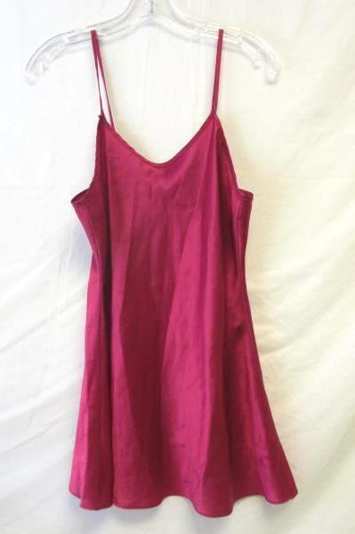 Women's Top Shop Hot Pink Silky Night Shirt Size 8 100% Polyester