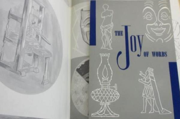The Joy of Words 1960 Leather Bound Literary Selections