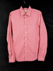 J CREW Slim Thomas Mason Button Down Shirt in Small Gingham Red & White Sz S