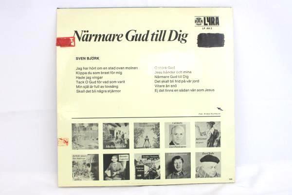 Sven Björk Närmare Gud Till Dig Vinyl LP Swedish Vocalist Lyra LP AH 3