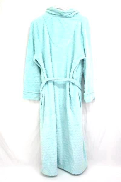 Sleep Chic Sleepwear Robe Mint Sculpted Plush Dots Wrap Belted Womens Small