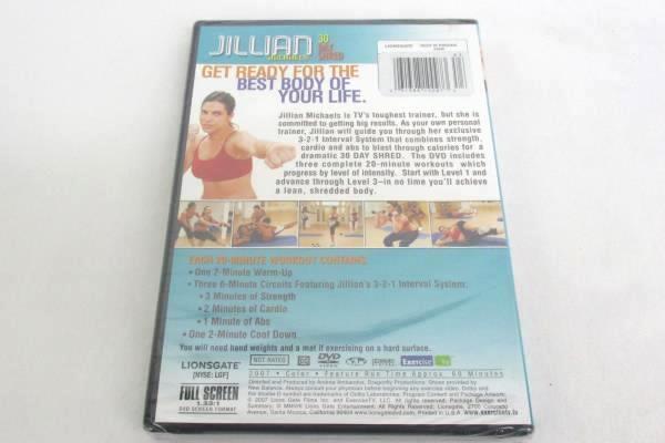 Workout Exercise DVD Jillian Michaels 30 Day Shred Weight Loss DVD