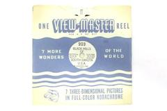 1948 Sawyers View Master Reel #203 Black Hills South Dakota Hand Lettered