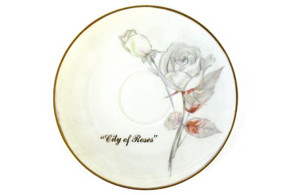 "Bavaria Germany Viletta's Arts ""City of Roses"" Saucer"