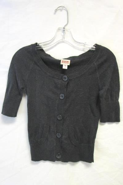 Lot of 2 Tops by Mossimo & Kenji Stripes Women's Size S Gray Dark Blue Striped