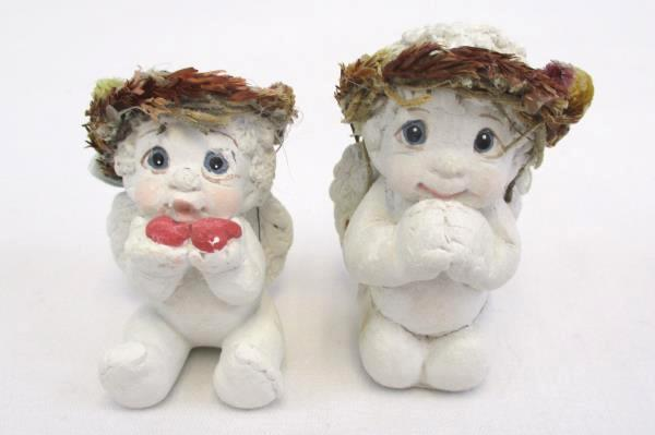 Christmas Gift Lot of 3 Angel Ornament Figurines w/ Christmas Card Dreamsicles