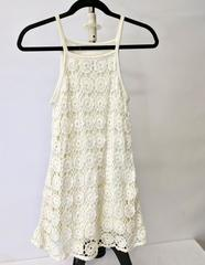 Oilily Crochet Overlay Sleeveless Dress Girls Size 10 Euro 140 Ivory