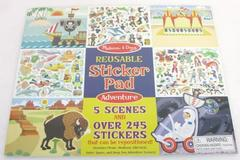 Melissa and Doug Reusable #9115 Adventure Reusable Sticker Pad Over 245 Stickers