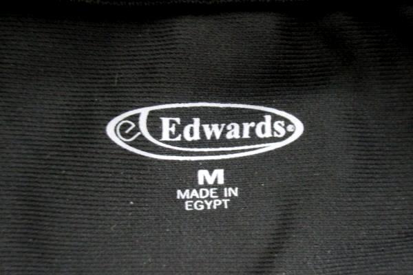 Edwards Garment Casual Short Sleeve Polyester Black Polo Shirt Womens M 5516-010