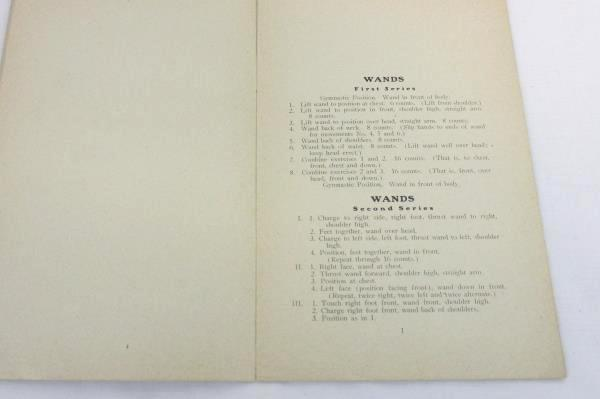 Circa 1908 Outline of Gymnastic Exercises Booklet Columbia College Expression