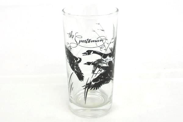 Vintage Set of 5 The Sportsman Glass Tumbler Highball Glassware Geese