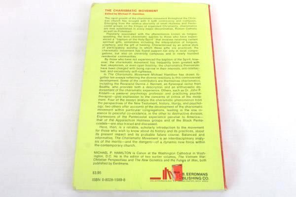 The Charismatic Movement by Michael P. Hamilton Vintage 1975 Paperback