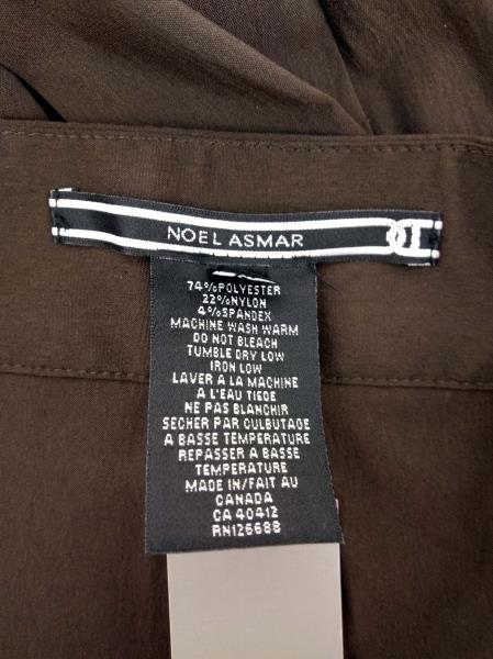 """NOEL ASMAR Spa Uniform Bottoms Chocolate Brown Tailored Pant """"NA020"""" NWT Size 16"""