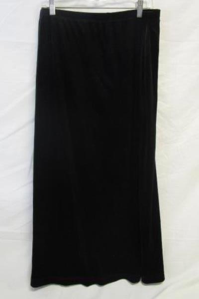 Notations Women's Top & Skirt Combo Black & Silver Size XL