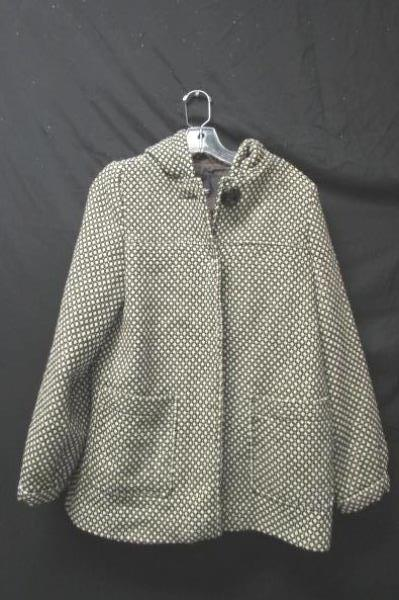 Mossimo Women's Brown & Ivory Coat 49% Wool Size S