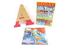 Children's Wall Decor Large Pink Letter A Finding Dory 2017 Calendar Dr Seuss