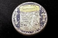 Vintage Small Sample Box Round Mentholatum Ointment Tin