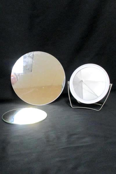 Hanging Mirrors & Handheld Mixed Lot of 3 Round Modern Wall Mounted Tabletop