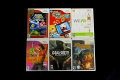 Lot of 6 Nintendo Wii Games Rabbids Super Mario Galaxy Zumba Cabela's COD:BO Fit