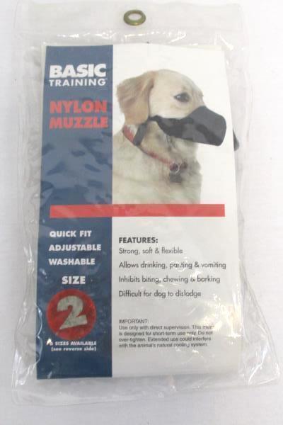 Lot of 2 Nylon Muzzle & Dog Harness Black Basic Fits Small to Medium Dogs