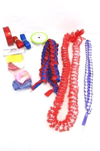 Lot of Ribbon For Decoration Decor Art Crafts Homemade Necklaces More