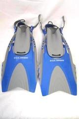 U.S. Divers Fins Blue Gray Size S/M (4-8.5 In Mens 5-9.5 In Womens)