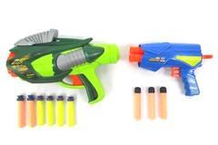 Lot of 2 Buzz Bee Air Warriors Soft Dart Guns Tek 6 And Ultra Tek Gem
