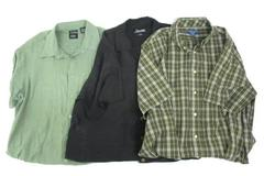 Lot of 3 Mens Short Sleeve Button Front Shirts Haggar Silverton Puritan Size XL