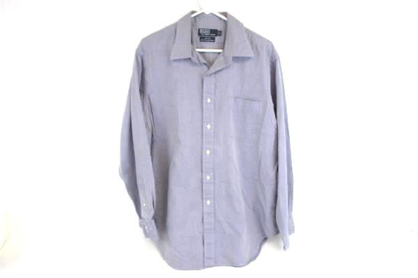 Polo By Ralph Lauren Blue Long Sleeve Button Up Shirt 100% Cotton Mens 17 34/35