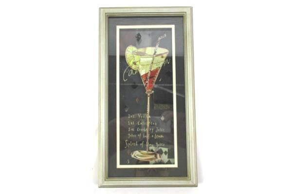 "Framed Cosmopolitan Bar Drink Recipe 11.25"" x 6"""