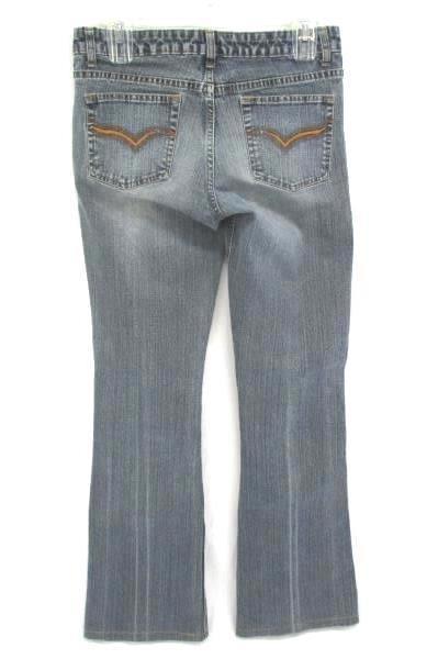 Riders Vintage Distressed Denim Boot Cut Flare Stretch Jeans Women's Juniors 7