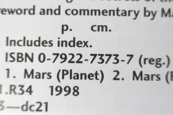 """""""MARS: Uncovering the Secrets of the Red Planet"""" by Paul Raeburn 1998 NGS HC"""