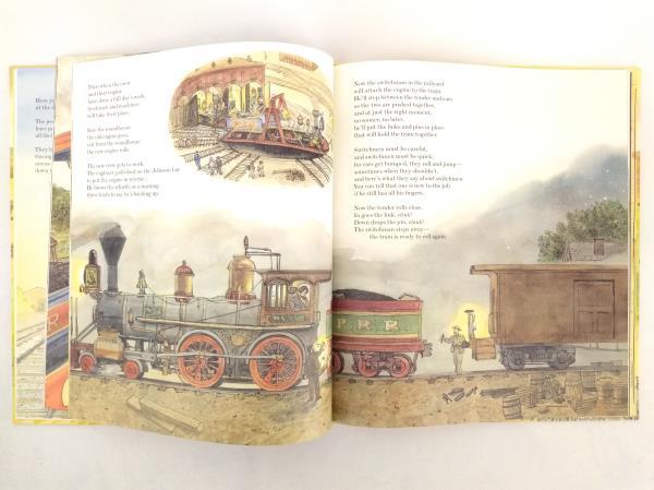 Locomotive (Caldecott Medal) by Brian Floca (2013) FLAT SIGNED Hardcover
